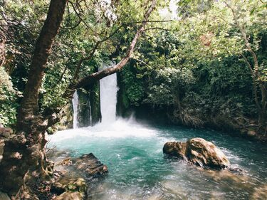bossfight-free-stock-photos-waterfall-water-blue-rocks-trees